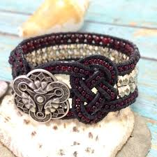 beaded leather cuff bracelet images 537 best leather images leather craft leather jpg