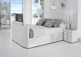Encore White Bedroom Suite Tv Bed Beds With Tv Television Beds Uk
