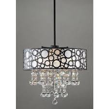 Chandelier With White Shade Black And White Crystal Chandelier Ideas For Home Decoration