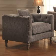 Tufted Accent Chair Accent Chairs Gray Tweed Tufted Accent Chair Co 505773