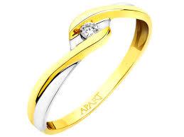 pierscionki apart pierścionek z żółtego złota z brylantem wzór 101 113 apart