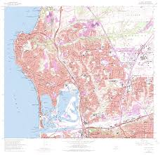 Topographical Map Of United States by Topographic Maps Of San Diego County California