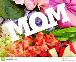 flowers for mothers day gift box and artificial flowers for mother u0027s day stock photo