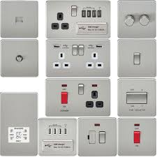 Home Electrical Lighting Design Screwless Flat Plate Electrical Light Switches U0026 Plug Sockets