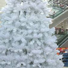 4m white outdoor pre lit christmas tree