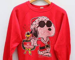 snoopy christmas sweatshirt snoopy sweater etsy