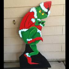 grinch cutout wood grinch cutout outdoor grinch grinch