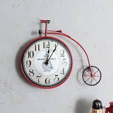 bicycle wall clock uk bicycle wall clock vintage creative bicycle