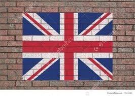 Beitish Flag British Flag On Wall Illustration