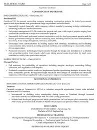 Resume Examples For Construction by Great Resumes Examples Resume For Your Job Application