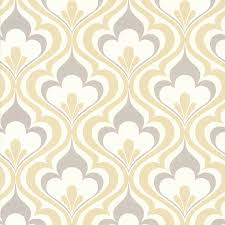 Wallpaper Shop Shop Brewster Wallcovering Simple Space 2 Yellow Non Woven Damask