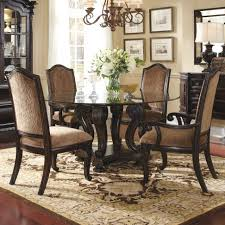 Round Dining Set For 8 Classic Home Furniture Tables Design Antique Brown Polished Oak