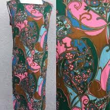 vintage dress 70 s slinky true vintage 60 s 70 s slinky dress psychedelic norman linton fancy