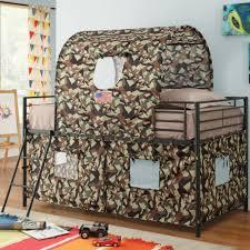 zoomie kids nora camouflage tent twin bunk bed reviews wayfair