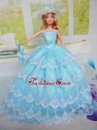 quinceanera dolls luxurious baby blue party clothes for noble quinceanera doll tulle