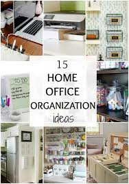 organize home ways to organize your home office by a blissful nest