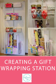 creating a gift wrapping station home organisation the