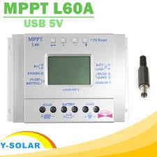 mppt solar charge controller 60a lcd display solar regulator 12v