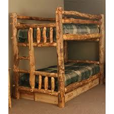 Aspen Log Rustic Bunk Bed NC Rustic Interior Design - Log bunk beds