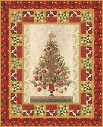 Free Christmas Tree Quilt Patterns Tinsel And Thyme Holiday Color Story Winter U0027s Grandeur Collection