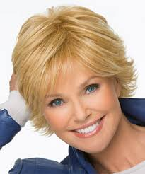 layered flip hairstyles special by christie brinkley this short layered hairstyle features