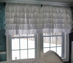 incredible white ruffle blackout curtains and black curtain