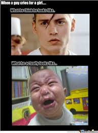 Guy Crying Meme - when a guy cries for a girl by kasuns2 meme center