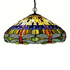 tiffany glass pendant lights shop chloe lighting dragonfly 24 in bronze tiffany style single