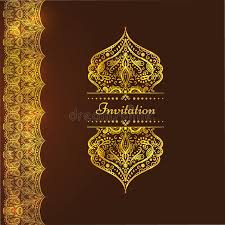 a luxury vintage card invitation with beautiful golden ornaments