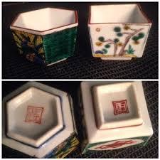 Japanese Kutani Vases Modern Japanese Pottery And Porcelain Marks 窯印 Kutani Yaki
