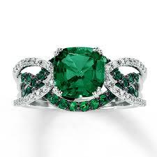 kay jewelers class rings jared 14k white gold diamond u0026 lab created emerald ring