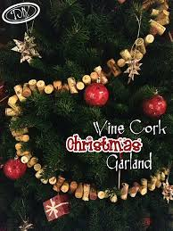 diy wine cork christmas garland u2013 top easy craft design for party
