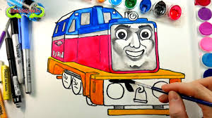 barbie tv drawing kids thomas friends ivan racing engine