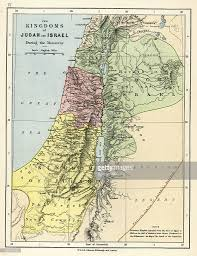 Old Map Old Map Kingdoms Of Judah And Israel Stock Illustration Getty Images
