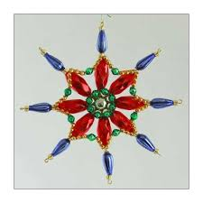 fancy snowflake ornament glass bead project kit multi colored