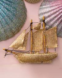 glittered sailboat ornament martha stewart