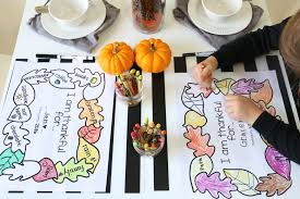 printable thanksgiving placemats papa bubba