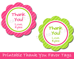 Thank You Tags Wedding Favors Templates by Bridal Shower Favor Tags Free Template Wedding Favors
