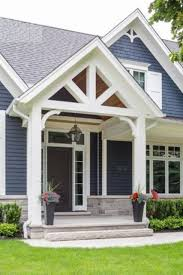 Homes With Front Porches Front Gable Roof That Overs A Porch For The Home Exterior And