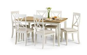davenport white oak dining set with 6 chairs homezone