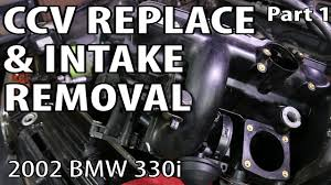 bmw e90 separator replacement bmw 330i 325i e46 ccv replace intake removal part 1 see it