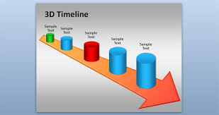 free 3d timeline powerpoint template free powerpoint templates
