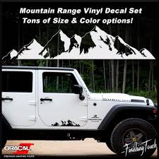 mountain off road door body vehicle decal sticker car truck rv
