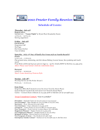 Six Flags Schedule Free Family Reunion Letter Template Classroom Newsletter Templates
