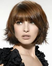 layered medium bob with bangs hairstyle picture magz