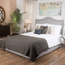 james grey upholstered studded fabric queen size bed set u2013 gdf studio