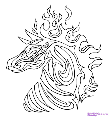 dragoart coloring pages tribal tiger colouring pages coloring