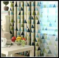 Green Kids Curtains 2 X Blockout Curtains Triangle Blackout Jungle Green Boys Kids