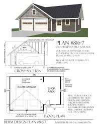 craftsman style garage plans 2 car craftsman style garage with shop attic plan 816 7 36 x