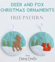 deer and fox felt ornaments ornament free